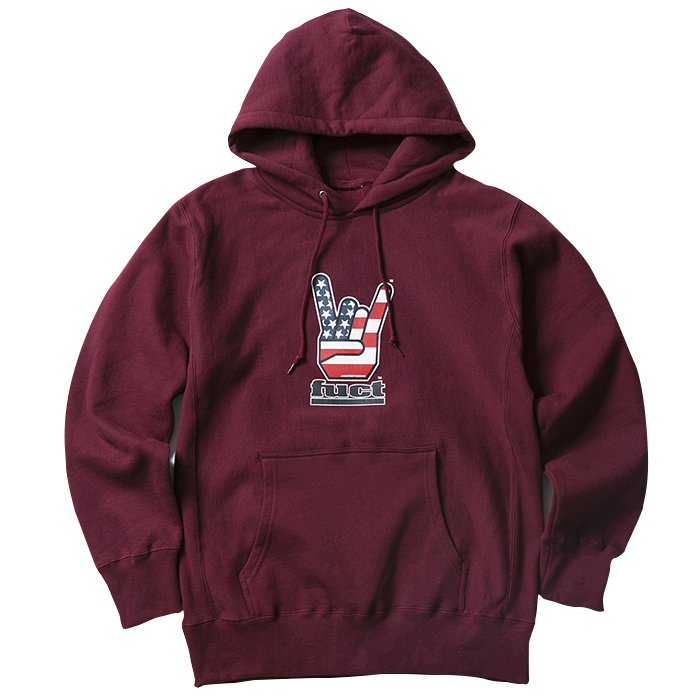 FUCT SSDD HORNED HAND PULLOVER HOODIE 48303