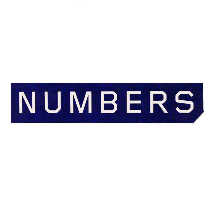 Numbers Edition  MITERED LOGO-STICKER 18921