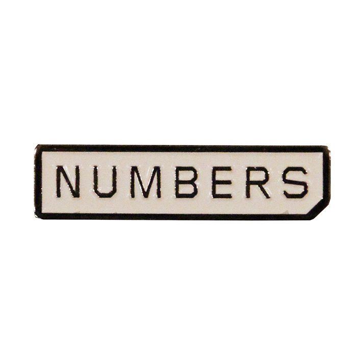 Numbers Edition MITERED LOGO-ENAMEL PIN 18916