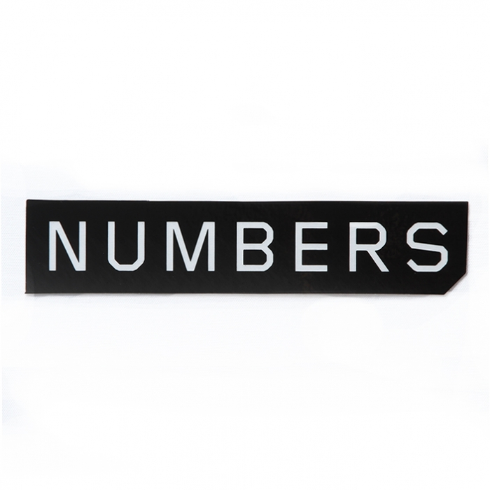 Numbers Edition MITERED LOGO-STICKER 14912