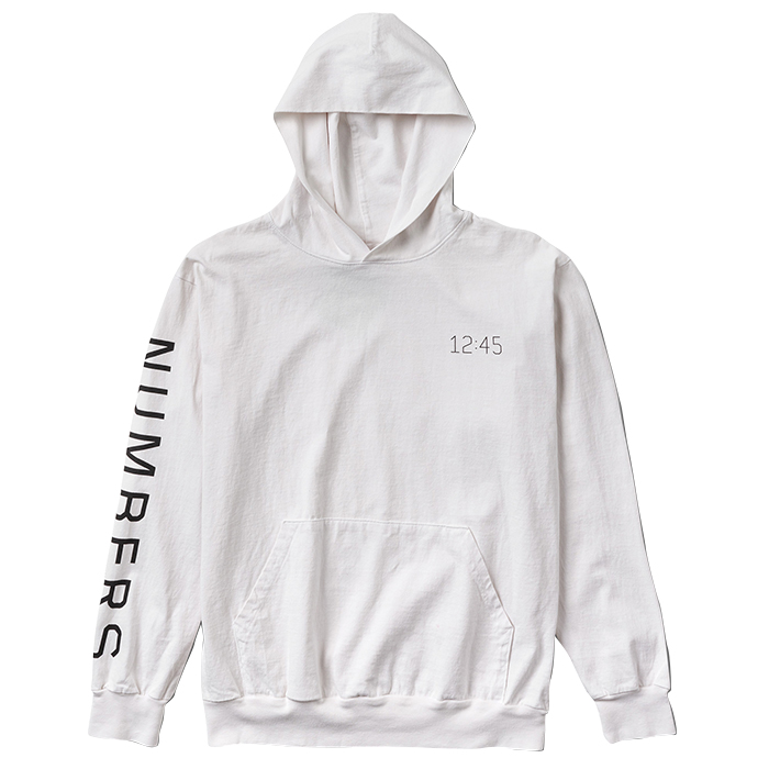 Numbers Edition WORDMARK HOODED JERSEY PULLOVER 18305