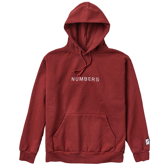Numbers Edition EMBROIDERED WORDMARK FLEECE PULLOVER 18302