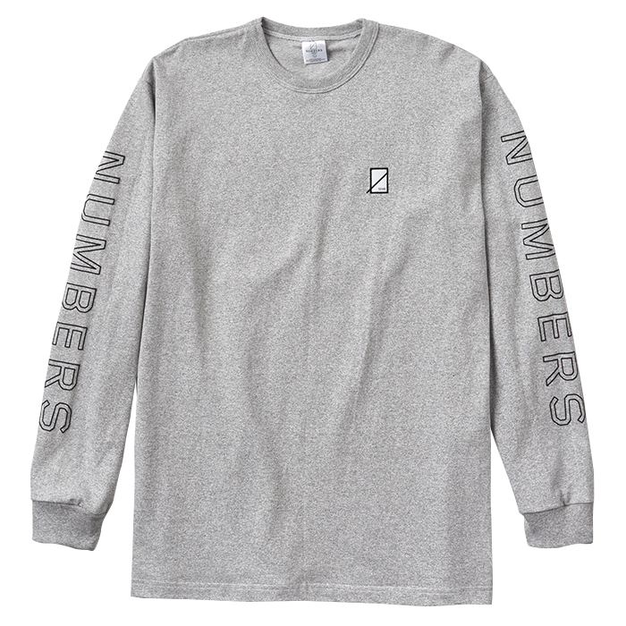 Numbers Edition OUTLINE WORDMARK-PREMIUM L/S T-SHIRT 18501